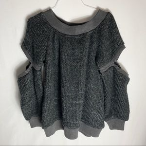 Sweaters - Fussed Urban Collection Cutout Oversized Sweater